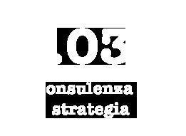03 - Consulenza e Strategia