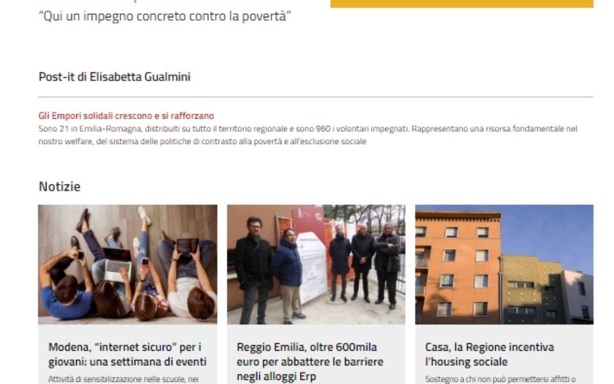 socialeER - Portfolio - Express Comunicazione - Regione Emilia Romagna